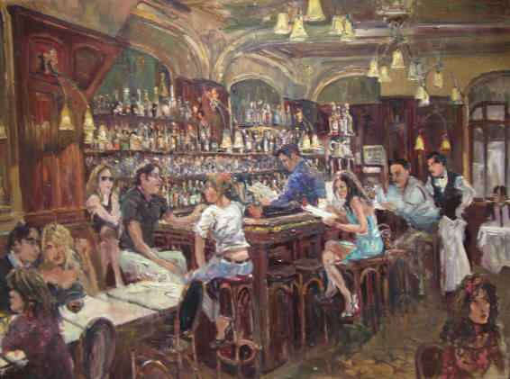 Image result for in a bar painting