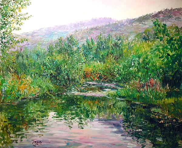 tsar valery tsarikovsky original oil painting impressionism